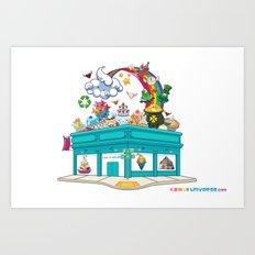 Kawaii Universe Studio Logo  Art Print