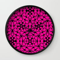 calavera Wall Clocks featuring Calavera by jikama azpeitia