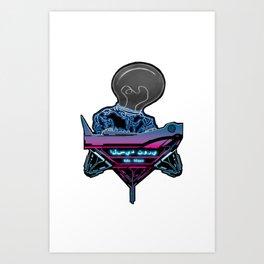 Futuristic DJ Art Print