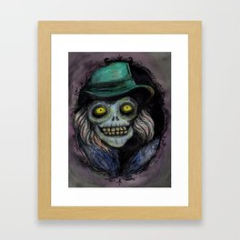 Hatbox Ghost (portrait--light version) Framed Art Print