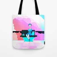 shopping Tote Bags featuring Shopping by IOSQ
