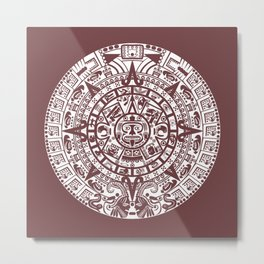 Mayan Calendar // Redwood Metal Print