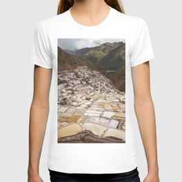 Salina de Maras in Sacred Valley Peru T-shirt