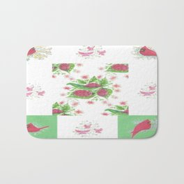 Cardinal Ladybug Pattern Bath Mat