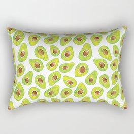 Watercolour Avocados Rectangular Pillow