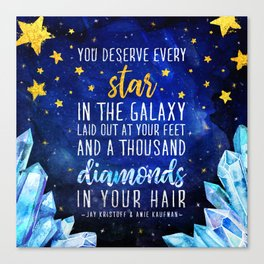 Star and Diamonds Canvas Print