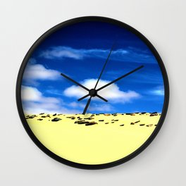 Right On The Edge Wall Clock