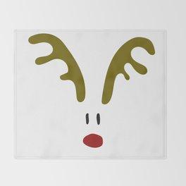 Christmas Red Nose Reindeer Throw Blanket