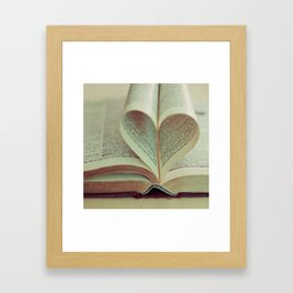 i heart books Framed Art Print