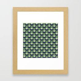 Koi Nobori Midori Framed Art Print