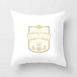 Stout Label Throw Pillow