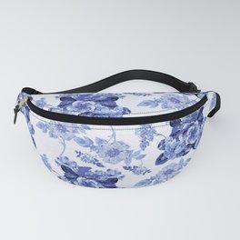 Blue Botanical Toile Fanny Pack