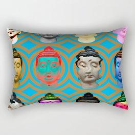 Buddha Heads Rectangular Pillow