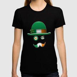 Irish Flag Face. T-shirt