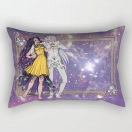 Sailor Moon - Human Luna and Artemis  Rectangular Pillow