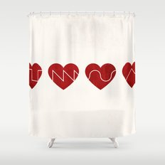 Love Synth Shower Curtain