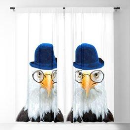 Funny Eagle Portrait Blackout Curtain
