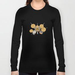 Yellow Drum Kit Long Sleeve T-shirt