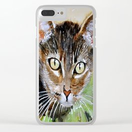 The Curious Tabby Cat Clear iPhone Case