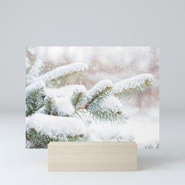 Winter Evergreen Mini Art Print