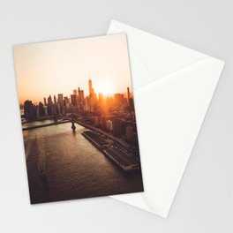 nyc aerial view Stationery Cards