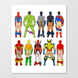 Superhero Butts Canvas Print