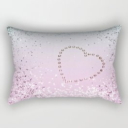 Mermaid Lady Glitter Heart #4 #decor #art #society6 Rectangular Pillow