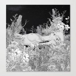 Lie down in darkness Canvas Print