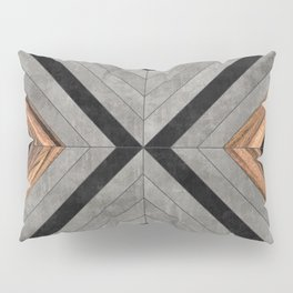 Urban Tribal Pattern No.2 - Concrete and Wood Pillow Sham