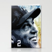 yankees Stationery Cards featuring The Captain by Prehistoric Robot