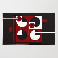 Geometric/Red-White-Black  1 Rug