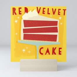 All American Classic Red Velvet Cake Mini Art Print