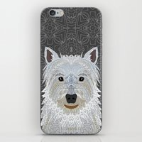 westie iPhone & iPod Skins featuring Westie by ArtLovePassion