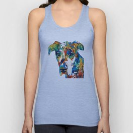 Colorful Great Dane Art Dog By Sharon Cummings Unisex Tanktop