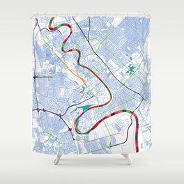 Mesopotamia's POP urban map Shower Curtain