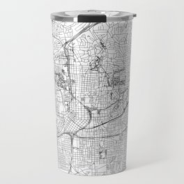 Atlanta White Map Travel Mug