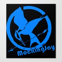 mockingjay Canvas Prints featuring MockingJay by Marc Koster