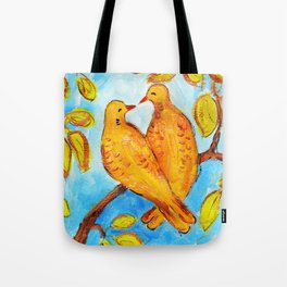 Two Turtle Doves Tote Bag