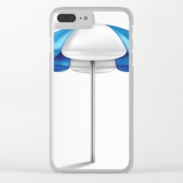 beach umbrella on a white background Clear iPhone Case