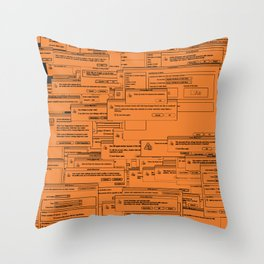Designer Dialogues AI Yellow Throw Pillow