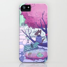 Nuclear Jackal relaxing in the garden iPhone Case