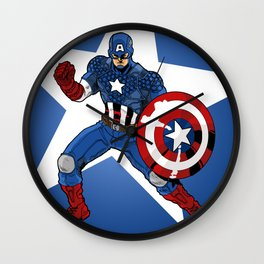 The Captain Strikes A Pose for America Wall Clock
