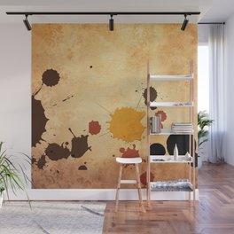 Abstract Indian Yellow Splash Wall Mural