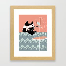 Kitty Bandit Framed Art Print