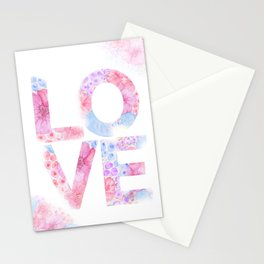 XOXO Floral Watercolor Printable Home Wall Decor Stationery Cards