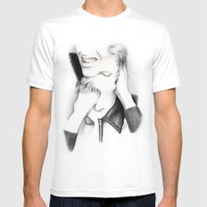 DECONSTRUCTION OF DAVID BOWIE  MEDIUM White Mens Fitted Tee