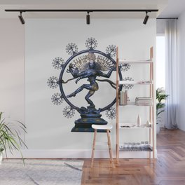 Shiva Nataraj, Lord of Dance (an actual factual fractal) Wall Mural