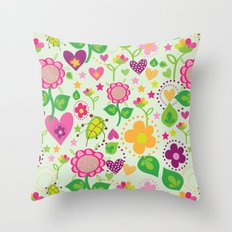 Summer feeling Throw Pillow