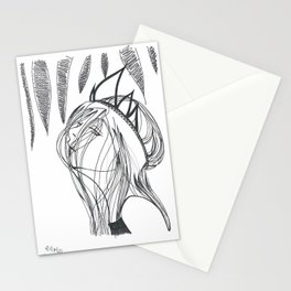 disinterested queen Stationery Cards