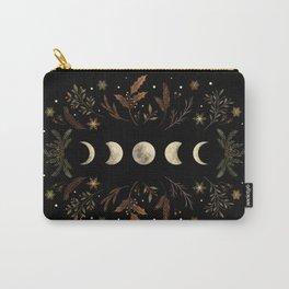 Moonlight Garden - Winter Brown Carry-All Pouch